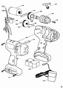 Spares For Black  U0026 Decker Kc9099 Cordless Drill  Type 1