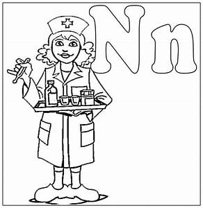Nurse Coloring Pages Kids Coloring Home
