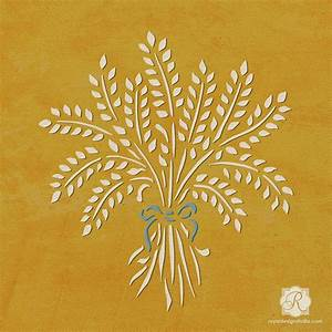 Harvest Wheat Fall Furniture Craft Stencil - DIY