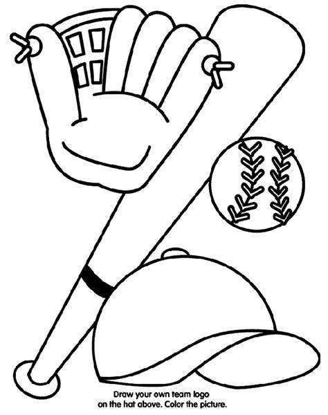 baseball equipment coloring page crayolacom