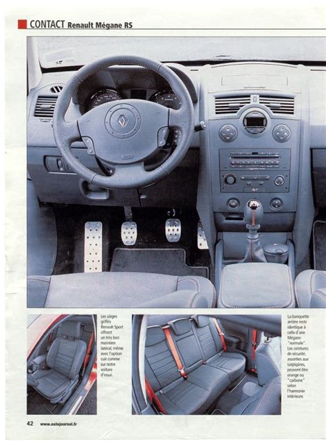 photo interieur megane 2 rs auto titre