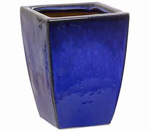 Einbauwaschbecken Eckig Keramik : keramik topf blau glasiert eckig dehner garten center ~ Bigdaddyawards.com Haus und Dekorationen