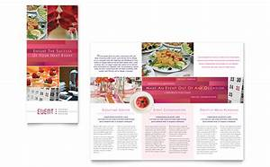 corporate event planner caterer tri fold brochure With event pamphlet template