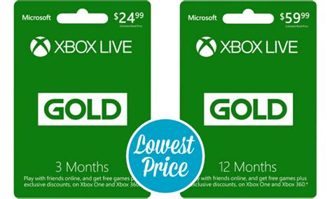 Best Price on a Microsoft Xbox Live Gold Card!