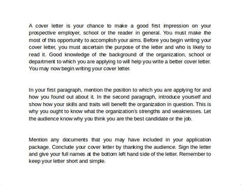 Weaknesses Cover Letter by How To Write A Cover Letter 8 Sles Exles Formats