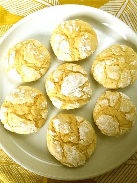 Soft and chewy lemon cookies. Easy Lemon Crack Crinkles Cookies Recipe - Best Ever ...