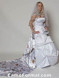 bridal and wedding dress with camouflage sash camouflage With snow camo wedding dresses