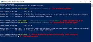 Update And Upgrade Windows 10 Using Powershell