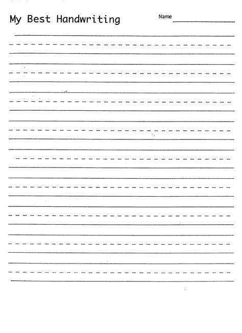 Handwriting Practice Sheets Template  Printable Handwriting Practice Sheets K 3 Teacher