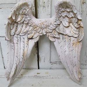 Angel wings wall decor white pink tinted from