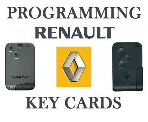 Renault Key Card Programming Laguna Megane Scenic For Sale