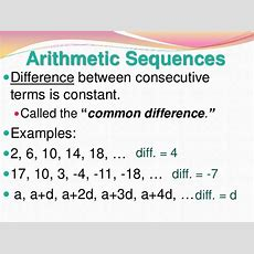 13 1 Arithmetic And Geometric Sequences
