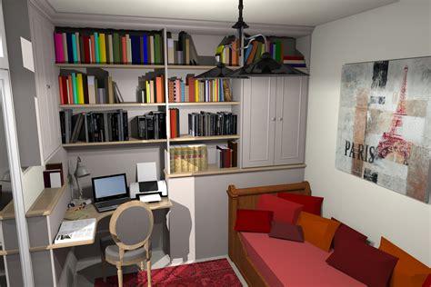 chambre d ami un bureau une bibliothèque et une chambre d 39 amis dans