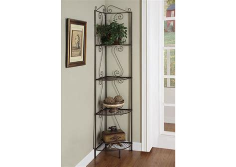 White Metal Etagere by Bookcase 70 Quot H White Hammered Metal Corner Etagere