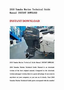 2010 Yamaha Marine Technical Guide Manual Instant Download