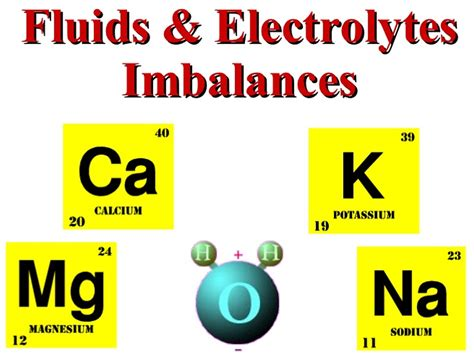 Electrolyte Imbalance Causes Symptoms And Treatment