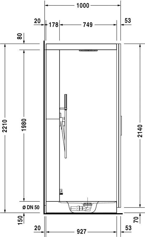 dimension cadre de porte standard duravit st trop hammam cabine de hammam 730011 by duravit