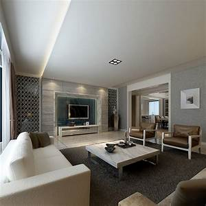 Modern Living Room With Luxury Furniture 3D Model .max ...