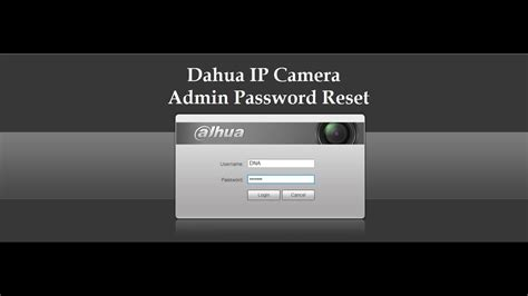 dahua ip camera reset  hardware youtube