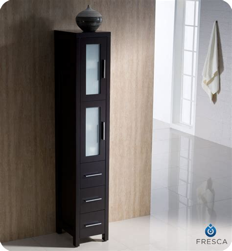 12 inch wide bathroom cabinet 12 quot fresca torino fst6260es tall bathroom linen side