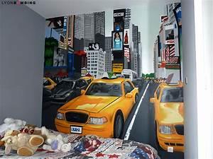 Décoration New York Chambre : chambre times square chambre lyonbombing ~ Melissatoandfro.com Idées de Décoration