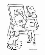 Coloring Cat Pages Easel Cats Printable Kitten Template Pichers Kittens Animal Dot Popular Library Clipart Redwork Cartoon sketch template