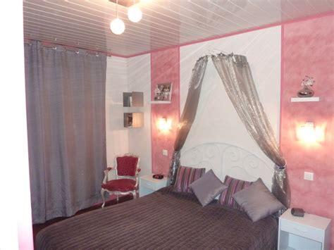 chambre lilas et gris décoration chambre adulte et gris