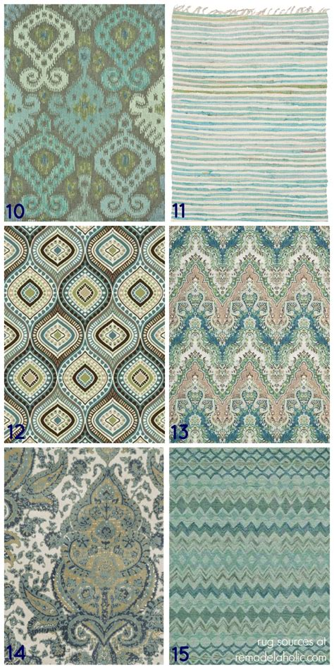 Patterned Area Rugs by Remodelaholic 20 Green And Blue Area Rugs You Ll