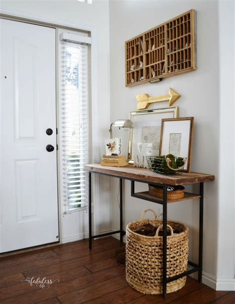 ikea entry way table ikea vittsjo hack a farmhouse entryway table my fabuless life