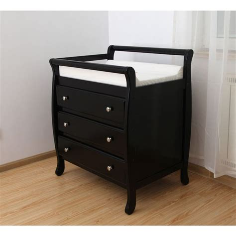 changing table with drawers espresso wooden baby change table with 3 drawers buy
