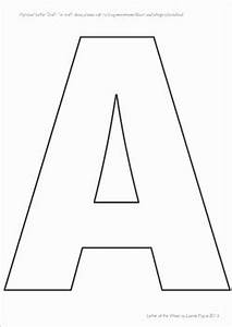 Letter Outlines Printable Letter Templates For Upper And Lower Case Letters By