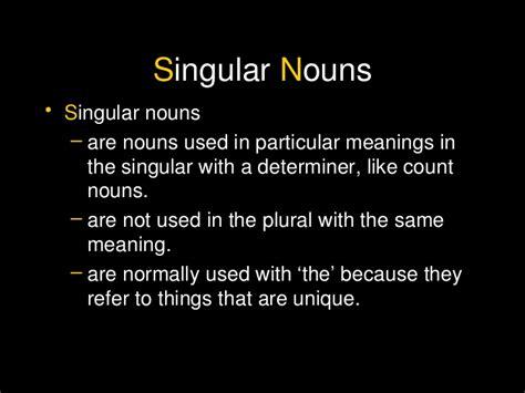 singular plural  collective nouns