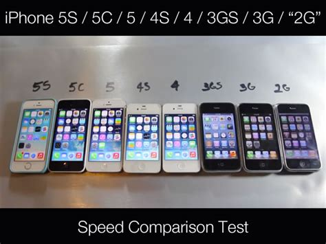 iphone comparison a speed comparison test of every iphone made global