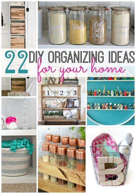 Ideas Organizing by 22 Diy Organizing Ideas For Your Home Tatertots And Jello