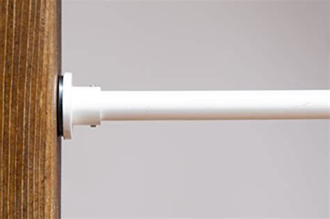 roomdividersnow white tension curtain rod 66in 120in