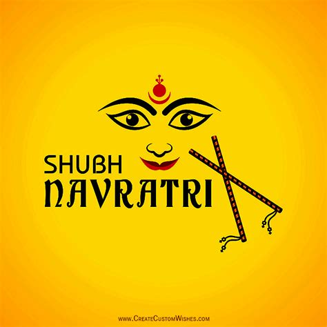 shubh navratri festival images create custom wishes