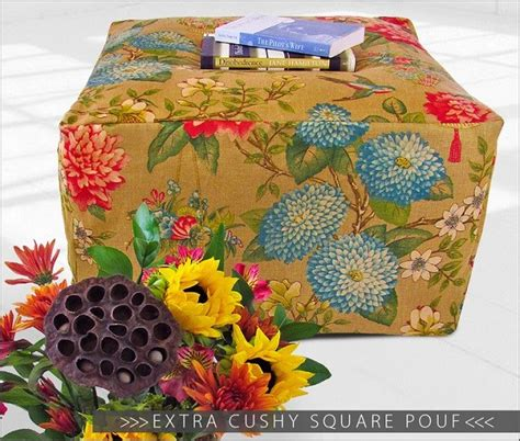 How To Make A Square Pouf Ottoman by Tutorial Square Pouf Ottoman Sewing