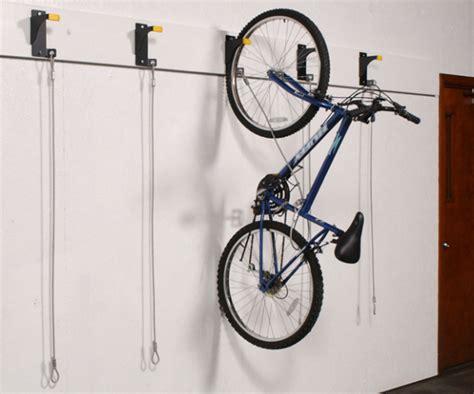 wall mounted bike rack wall mounted hanging bike racks push button overhead