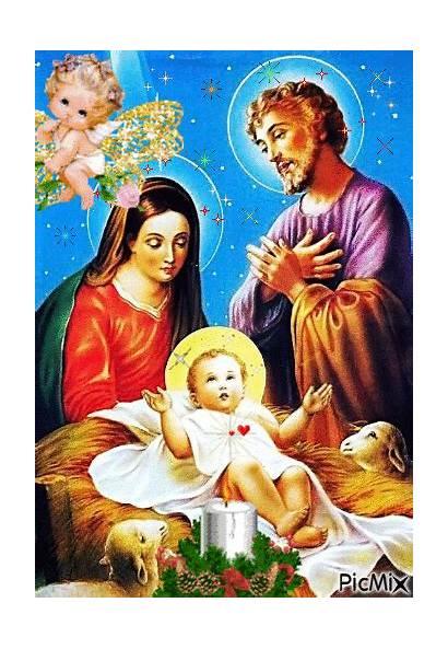 Natale Famiglia Sacra Immagini Jesus Fede Religiose