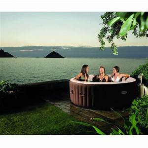 Spa Gonflable PureSpa Bulles Led 6 Places Intex