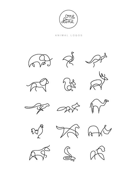 animals drawn   single  graphic design