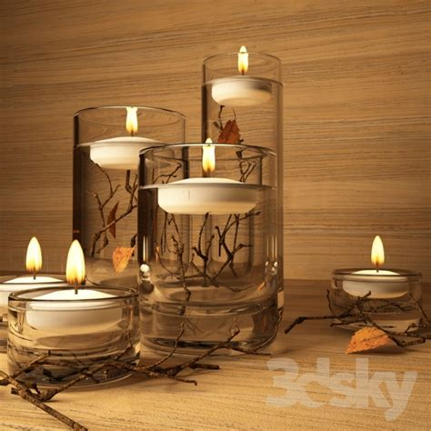 Branch Floating Candles Resized 600 by 3d Models Other Decorative Objects Floating Candles