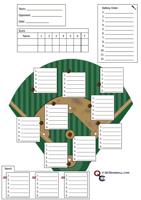 Printable Baseball Depth Chart Template Gantt Printable Baseball Depth Chart Template Gantt