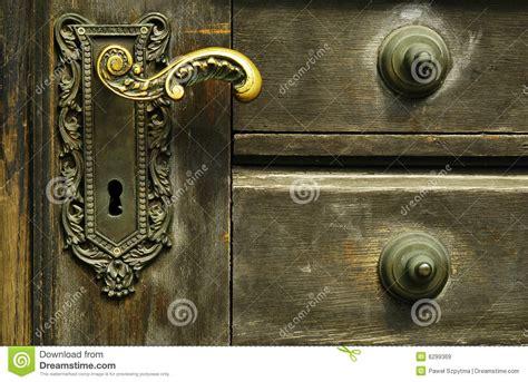 ornamental door lock stock image image of golden brick 6299369