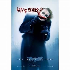 Batman The Dark Knight Movie Poster Joker Why so Serious ...