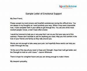 letter of emotional support lovetoknow With how to write a financial support letter for a friend