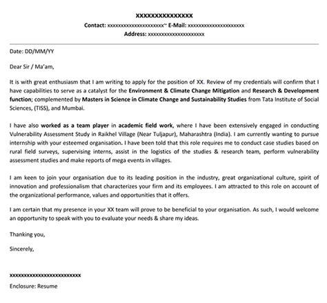 cover letter template  internship resume format
