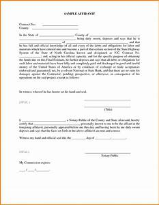impressive sample of affidavit form template with some With template for an affidavit
