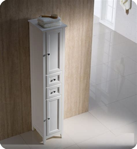 bathroom vanity with tall cabinet fresca oxford antique tall bathroom linen cabinet modern