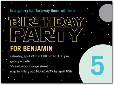 birthday party invitations  galaxy minted space